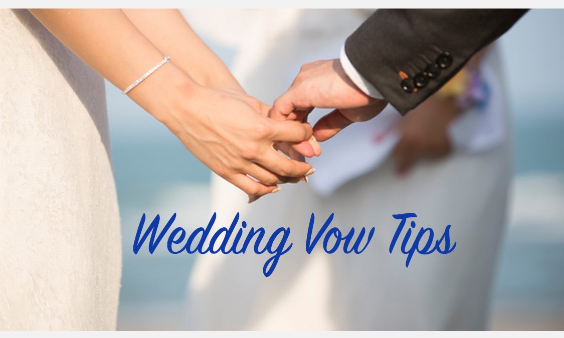 Three Creative Wedding Vow Tips for Couples